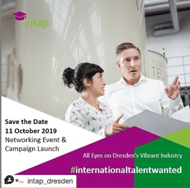 International Talent Wanted – DAS erstmalig Kampagnenpartner von intap
