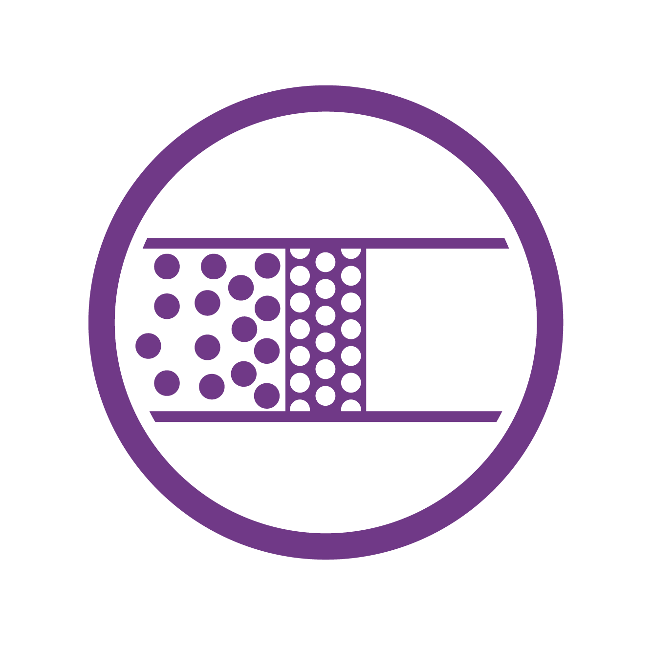 Icon showing Filtration