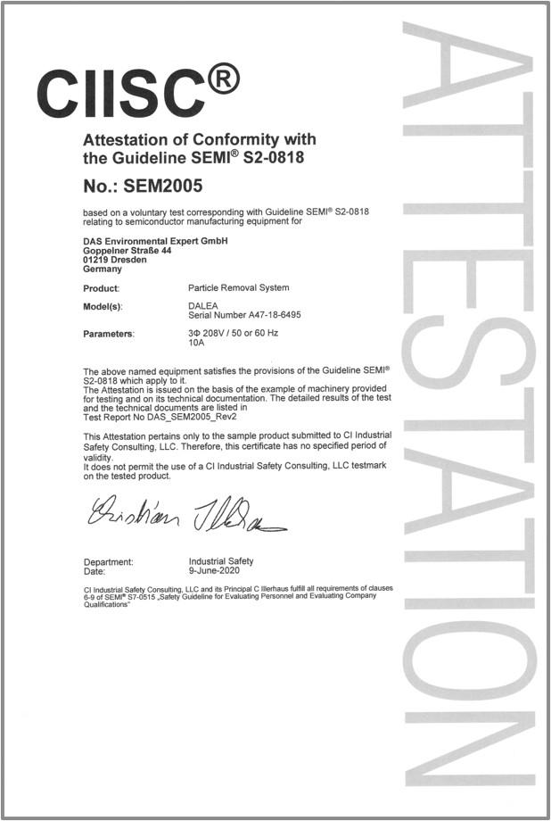 SEMI2 Certificate DALEA